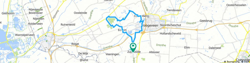 Long bike tour through De Wolden