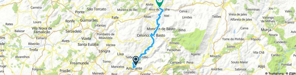 Ecopista Do Tamega Bikemap Your Bike Routes
