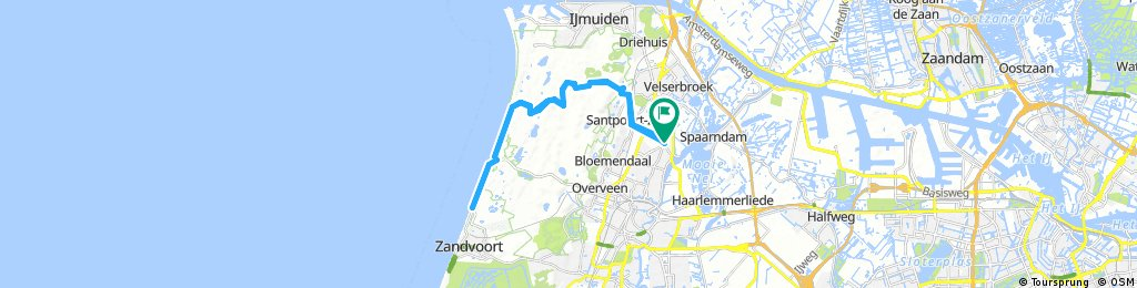 Lengthy bike tour through Haarlem