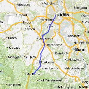 Cycling routes and bike maps in and around Cologne Bikemap Your