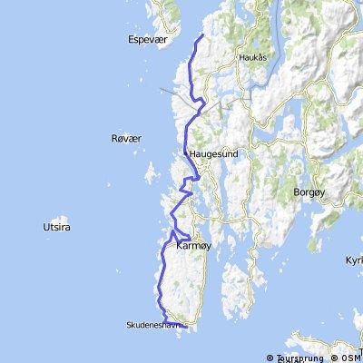 Nordsjøruta vest: Skudeneshavn - Haugesund - Buavåg