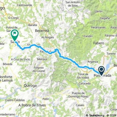 Etappe 09 Ponferrada - Sarria