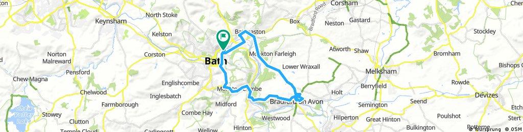 bike tour through Bath