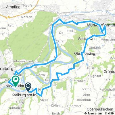 Route Kraiburg- Guttenburg -Mühldorf-Ebing-Kraiburg
