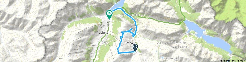 ride through Livigno