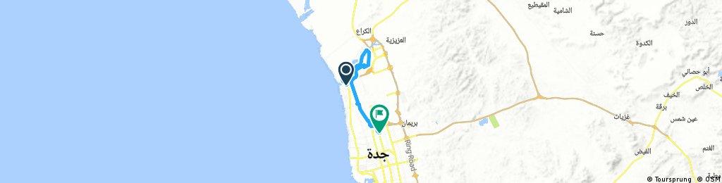 Long bike tour through جدّة