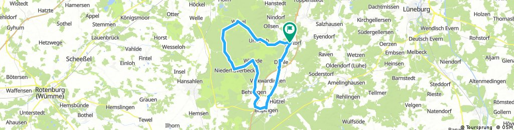 Lüneburger Heide von bis Egestorf