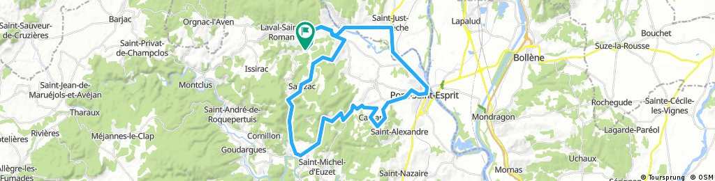 Lengthy bike tour through Laval-St.-Roman