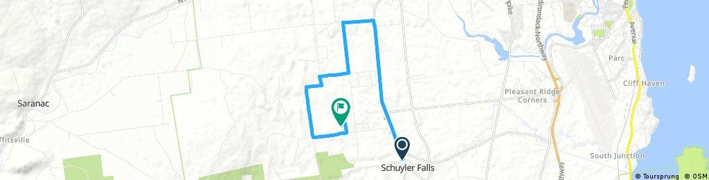 bike tour through Schuyler Falls