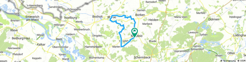 Raesfeld nach Rhede
