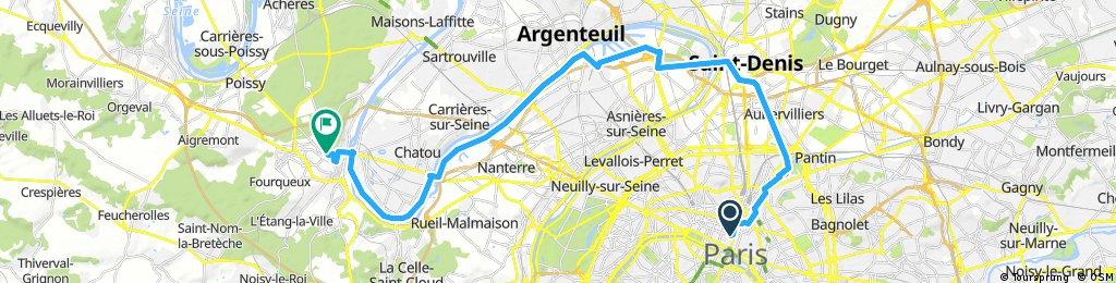 Premier tronçon de l'Avenue Verte London-Paris