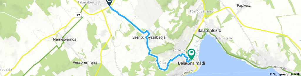 bike tour from Veszprém to Balatonalmádi