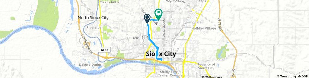 bike tour through Sioux City