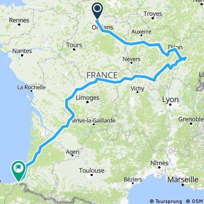 Viabon-Dijon-Labouheyre-Urrugne