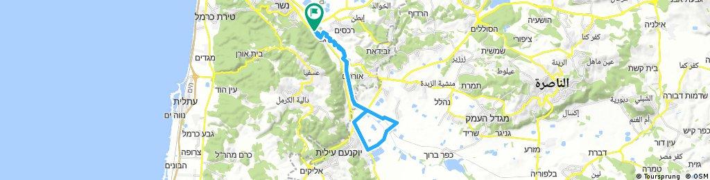 Long bike tour through Yagur290717