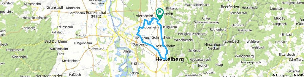 Lange Radrunde durch Weinheim