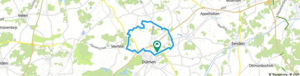 Dülmen - Rorup und zurück 26 km