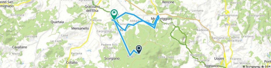 Quick bike tour through Monteriggioni