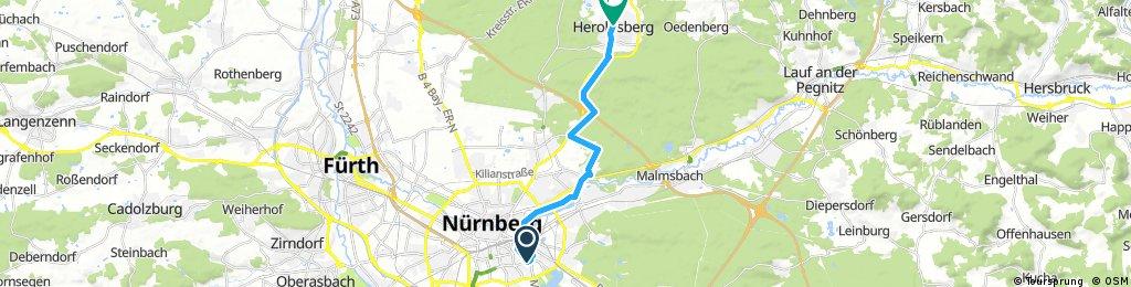 bike tour through Heroldsberg