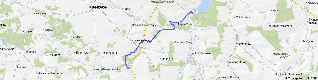 szlak rowerowy (zielony) Doliną Nędznicy. Lublin - Niedrzwica Duża- Niedrzwica Kościelna