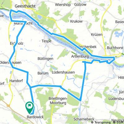 Bardowick - Geesthacht - Lauenburg - Brietlingen