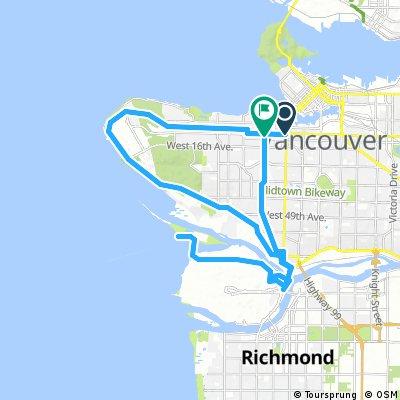 Vancouver to Iona Beach around UBC - Loop