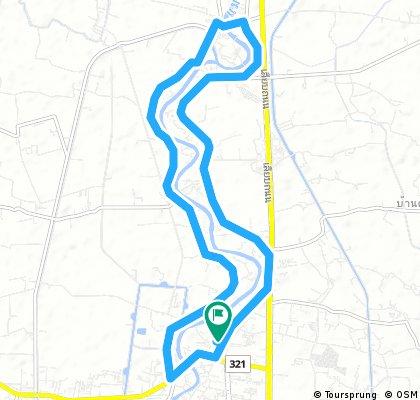 bike tour through Suphan Buri
