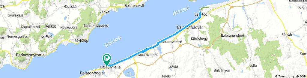Long ride through Balatonlelle