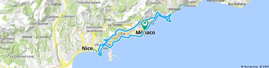 Long bike tour through Monako