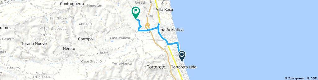 Short ride from Tortoreto to Colonnella