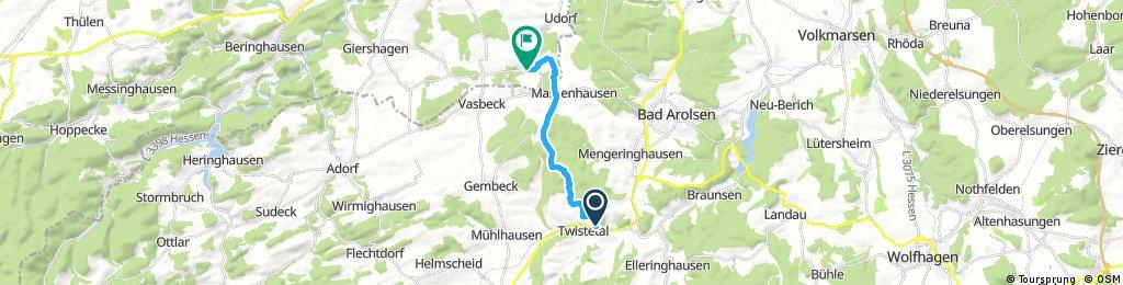 Radrunde von Twistetal nach Marsberg