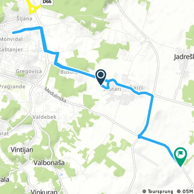 bike tour from Pula to Medulin
