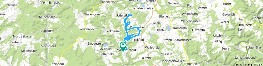 Lengthy bike tour through Manderscheid
