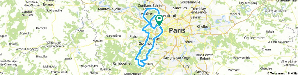 Cyclo 140 Rueil-Chevreuse-Conflans-Poissy