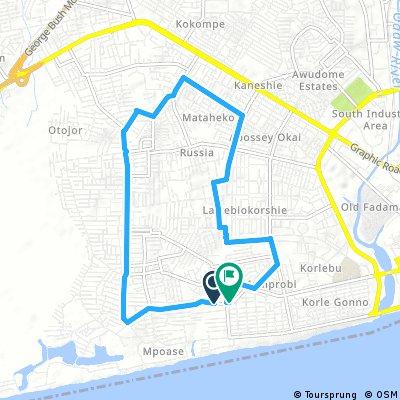 ride through Accra