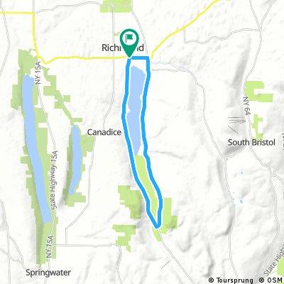 Honeoye Lake Loop 18.1 miles