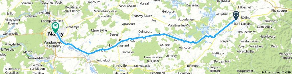 Sarrebourg to Nancy