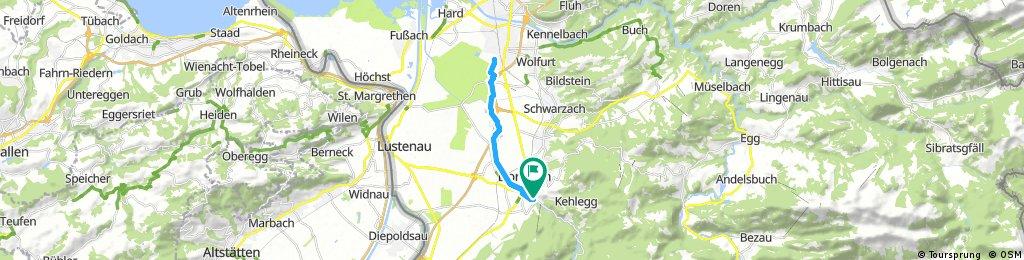 ride through Dornbirn