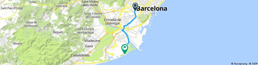 Ride through el Prat from Plaça de Sants