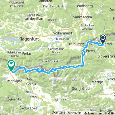 Dravograd to Near Bled