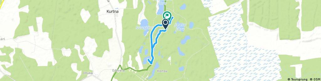 Brief bike tour through Illuka vald