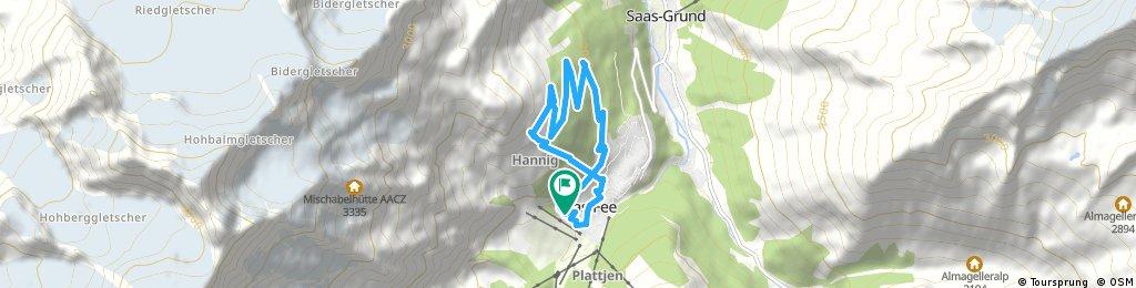 Kurze Radrunde durch Saas-Fee