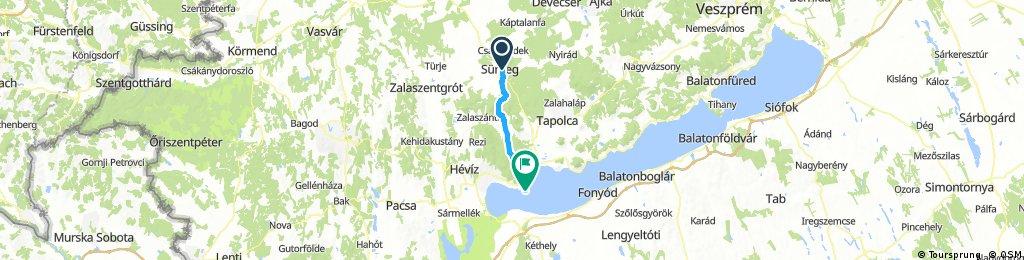 Lengthy ride from Sümeg to Balatongyörök