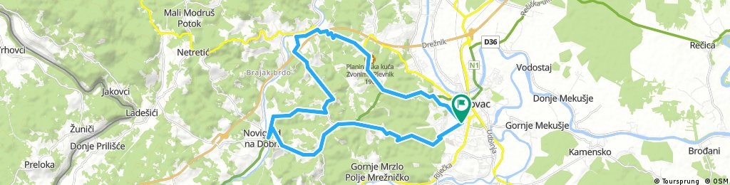 Karlovac county Cycling adventure route 1