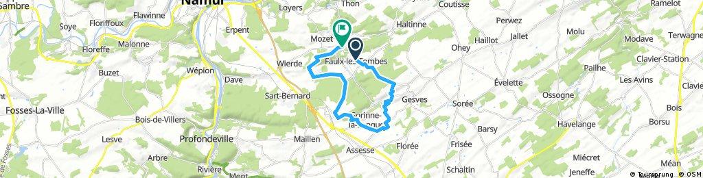bike tour through Gesves