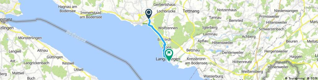Schnelle Ausfahrt von Friedrichshafen nach Langenargen