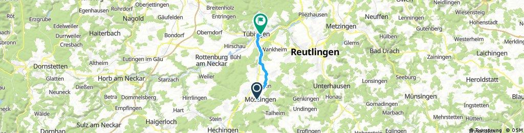Radrunde von Mössingen nach Tübingen