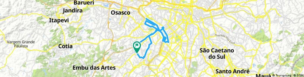 Long bike tour through São Paulo