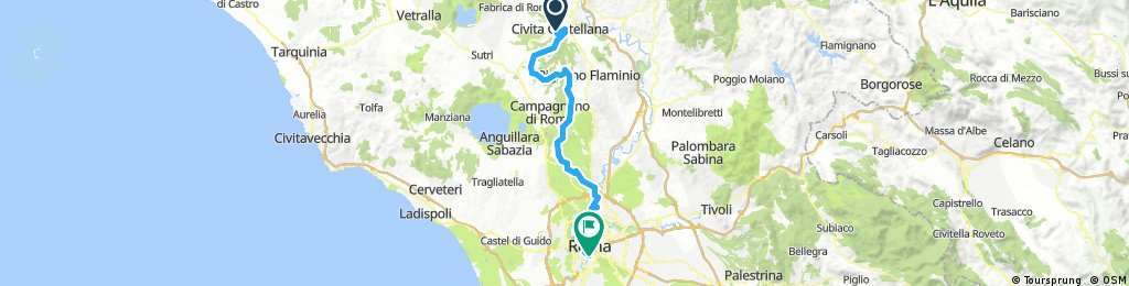 5-10 Civita Castellana to Rome via Vatican (Hotel Er Centurione) via Cyclepath and Tiber River Final