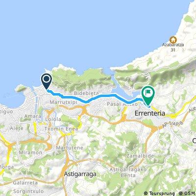 Brief bike tour from San Sebastián to Lezo